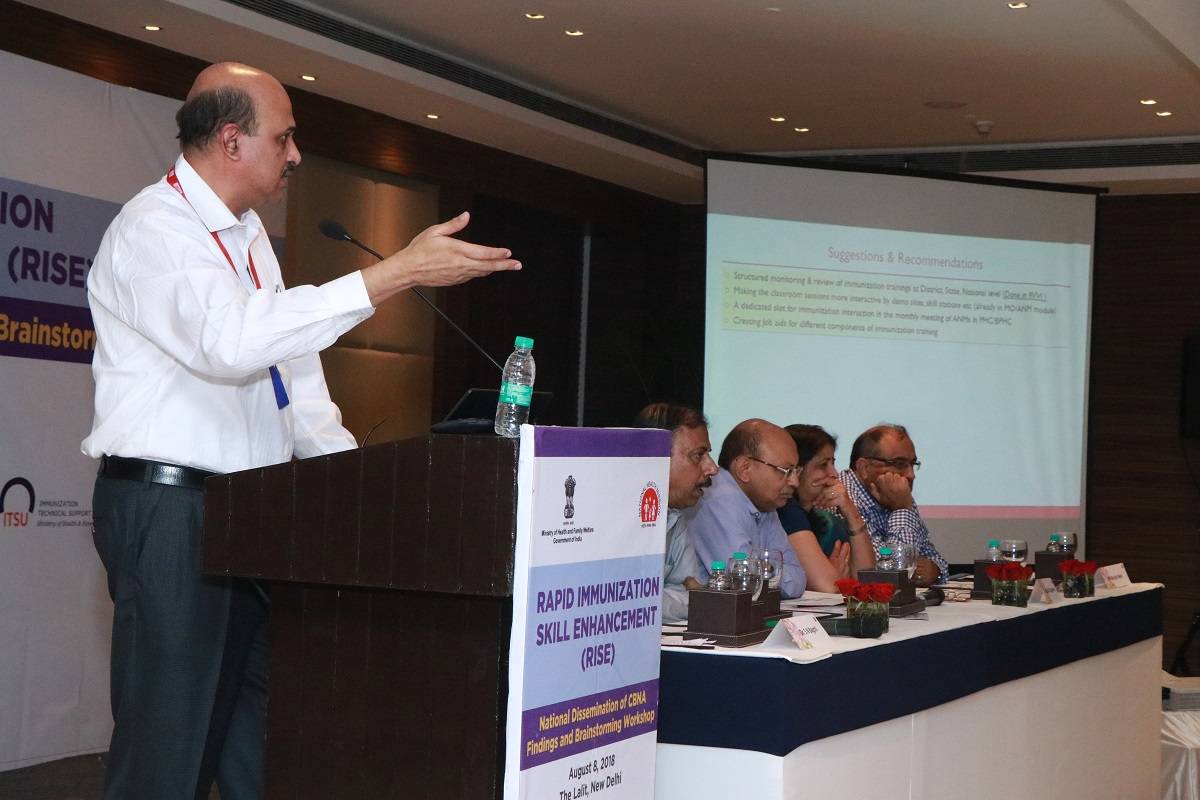 Dr. P.S. Ganguly, Project Director, RISE, JSI addressing the participants