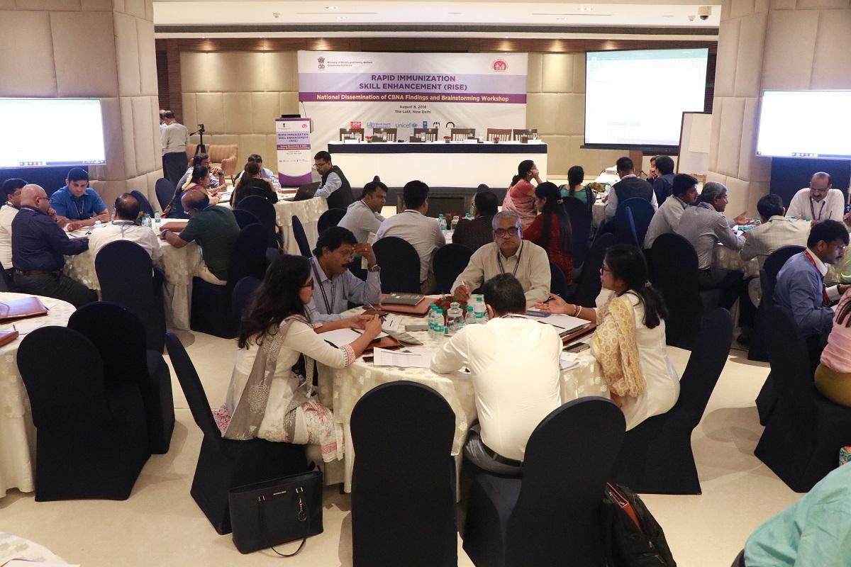 Brainstorming session during workshop