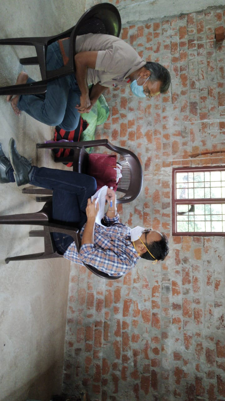 Data collection for Endline Assessment at Bhopal, MP