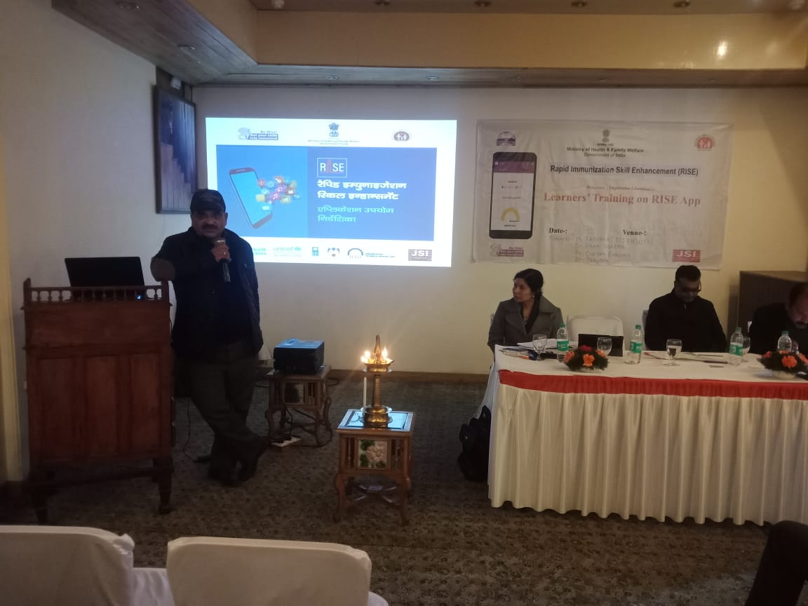 Dr. Jitendra Chauhan, CMO Shimla addressing the participants at Shimla, HP