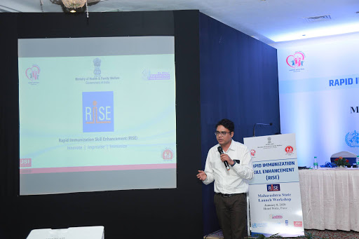 Dr. Puskarr Deshmukkh, STO-RISE taking a session