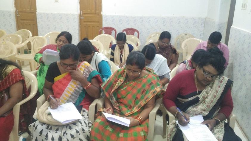 Healthworkers participating in baseline knowledge assessment survey, Khordha, Odisha