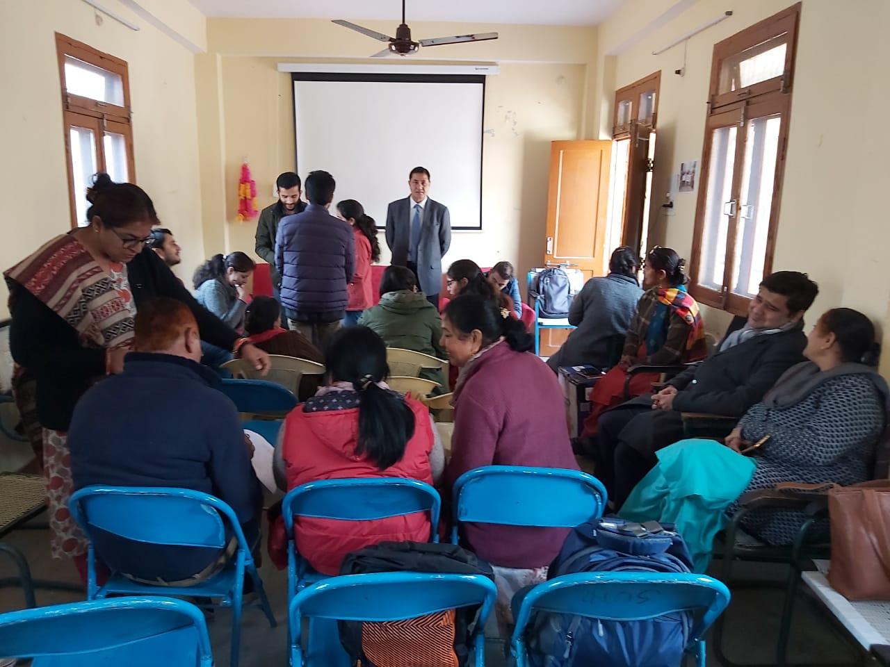 Ms. Seema Kaushal, TM, RVVI interacting with the participants at Shimla, HP