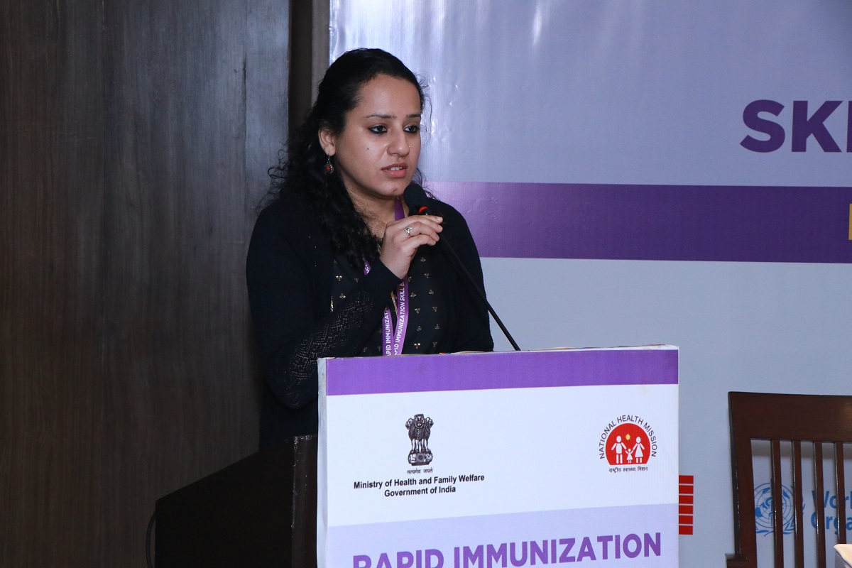 Ms. Chahat Narula Thakur, Project Officer-RISE interacting with participants
